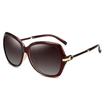 LIUXUEPING Gafas Nuevas De Montura Grande Gafas De Sol Polarizadas UV para Mujer (Color :