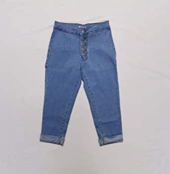 Girls pant jeans capris skinny stretch