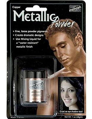 Mehron Makeup Metallic Powder (.17 oz) with Mixing Liquid (1 oz)