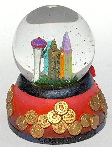 Mini Las Vegas 45mm 2.5'' Tall Sin City Snow Globe, Water Globe, Glitter Dome