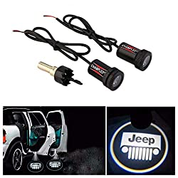 Champled® For Jeep Laser Projector Logo Illuminated Emblem Under Door Step Courtesy Light Lighting Symbol Sign Badge Led Glow Car Auto Performance Tuning Accessory