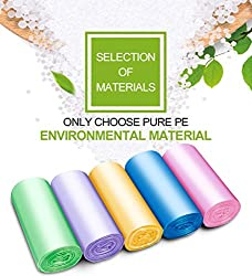 Small Trash Bags?FORID bathroom garbage bags for bedroom home kitchen 150 Counts 5 Color
