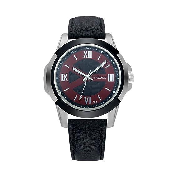 HWCOO Hermoso Relojes de Pulsera 383 yazole Sports Watch Reloj para Hombre Reloj Reloj (Color : 2): Amazon.es: Relojes