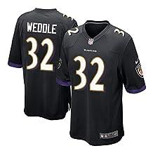 32 Eric Weddle Baltimore Game Mens Football Jersey Black