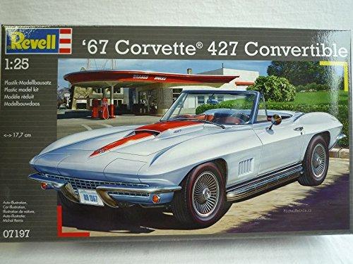 Chevrolet Chevy Corvette C2 1967 427 Cabrio 07197 7197 Bausatz Kit 1/24 Revell Modellauto Modell Auto