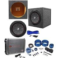 Kicker 43CWR122 COMPR12 1000W 12 Subwoofer+Sealed Box+Mono Amplifier+Amp Kit