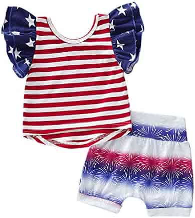 0b7e387d6 My First 4th of July Baby Outfits American Flag Romper Stars and Stripes Pants  Independence Day