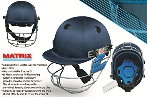 SS SS500001JR Matrix Cricket Helmet, Navy