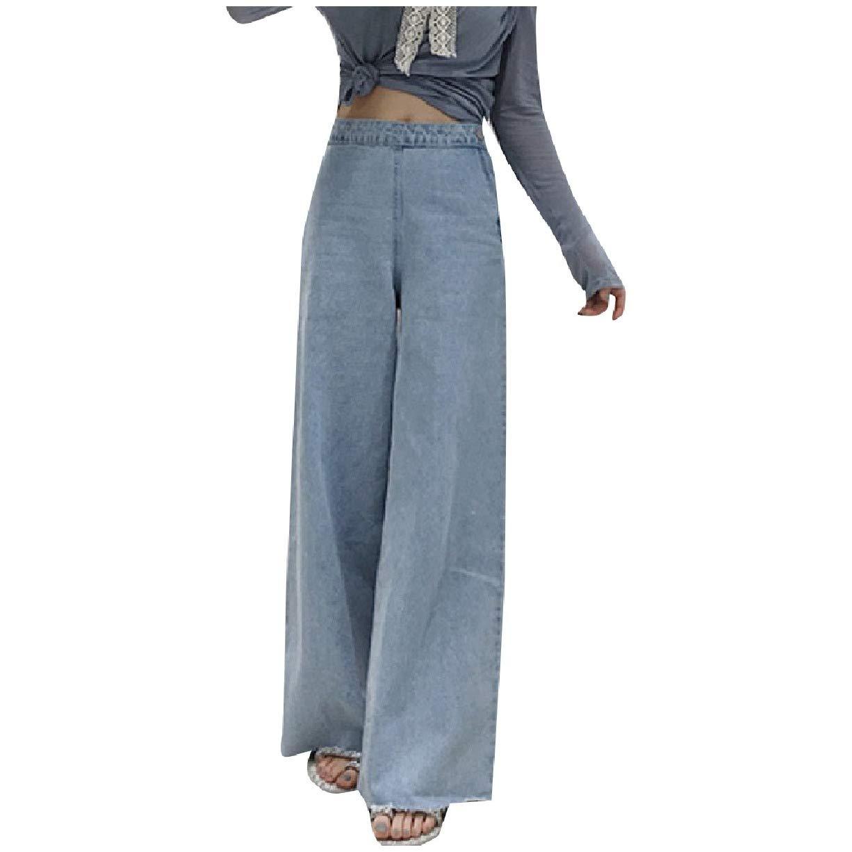 Vintage Dresses Australia- 20s, 30s, 40s, 50s, 60s, 70s MogogoWomen Highwaist Retro Style Bell Bottom Denim Pants Washed Jeans  AT vintagedancer.com