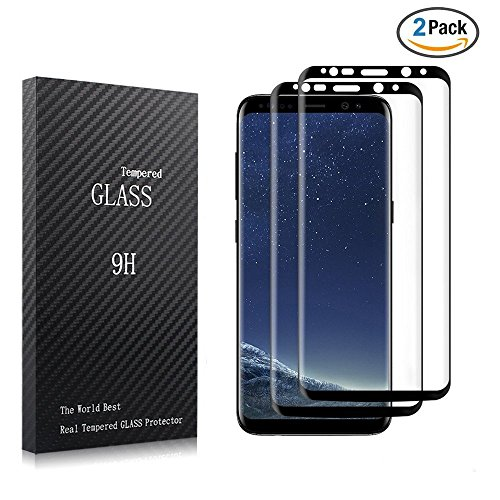 Galaxy S8 Glass Screen Protector, [2 Pack] Romix Premium 9H Hardness Anti-Scratch Full Coverage Tempered Glass Screen Protector Film for Samsung Galaxy S8