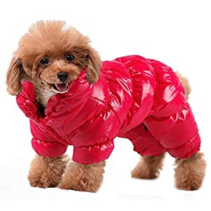 PET ARTIST Winter Puppy Dog Coats for Small Dogs,Cute Warm Fleece Padded Pet Clothes Apparel Clothing for Chihuahua Poodles French Bulldog Pomeranian