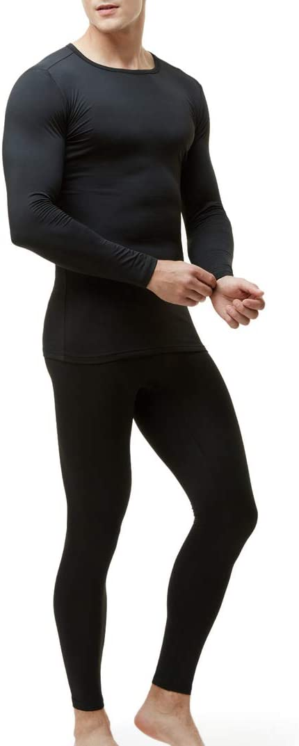 TSLA Blank Mens Thermal Microfiber Soft Fleece Long Johns Top /& Bottom Set