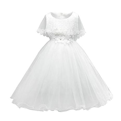 domybest 2 – 7 años de edad de niñas boda de dama vestidos gasa encaje princesa