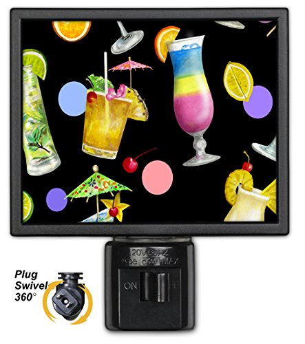 Art Plates NL-740 Tropical Cocktails Night Light
