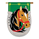 Cheap Two Group – No. 1 Horse Nature – Everyday Farm Animals Applique Decorative Vertical House Flag 28″ x 44″