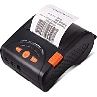 Mobile Thermal Receipt Printer Bluetooth MUNBYN 58mm Printer for Android iPhone iPad with Leather Belt and Rechargeable Battery For Small Business