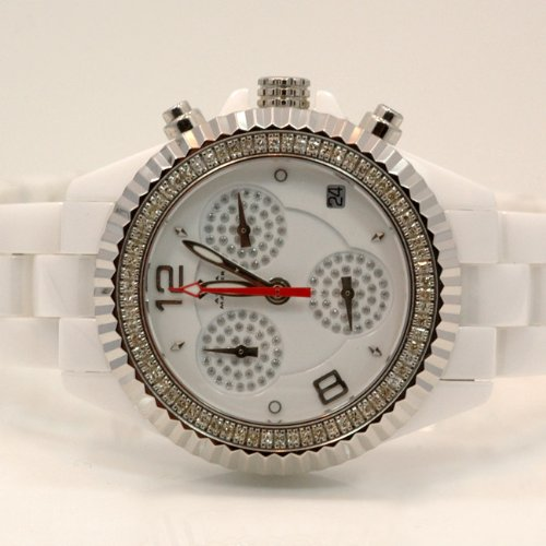 Aqua Master Ladies Ceramic Diamond Watch 1.25ctw W1151 by Aqua Master