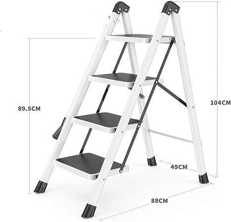 Escaleras plegables peldaños, 3-Step / 4-Step / 5-Escalera plegable de acero, escaleras de tijera plegable portátil, extensión de la cocina Paso Stool con peldaños antideslizante, 330lbs Capacidad: Amazon.es: Hogar