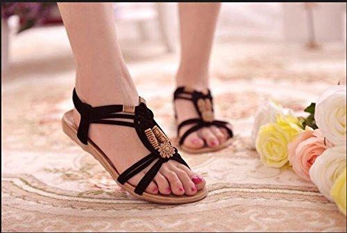 Brief Summer Flip Casual Ladies 2016 Herringbone Sandals Womens Gladiator A flop Shoes Highdas Black Fashion q4gw1