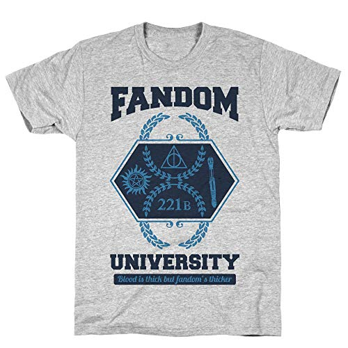 LookHUMAN Fandom University Large Athletic Gray Men