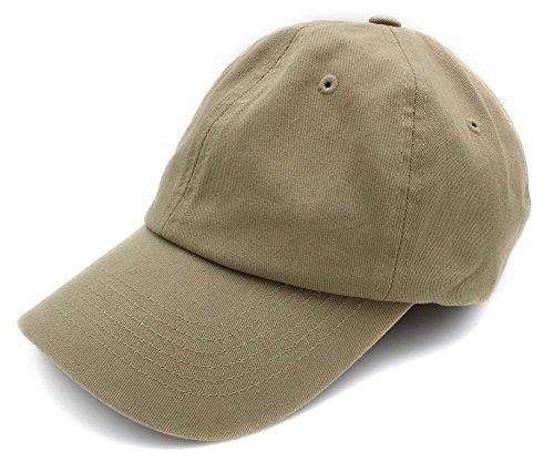 BRAND NEW 2016 Classic Plain Baseball Cap| Unisex Cotton Hat For Men & Women| Adjustable & Unstructured For Max Comfort| Low Profile Polo Style (KHAKI1)