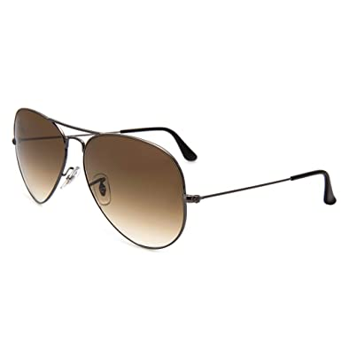 Ray-Ban - Lunettes de Soleil - RB3025 Aviator Metal Aviator 58 mm, Argent cb1c01b29014