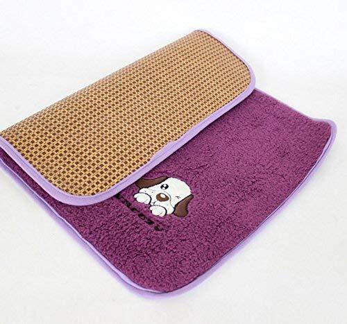 ANDRE HOME Summer Pet Mat Pet Supplies Ice Pad Cat Sleeping Blanket Dog Cushion Purple, L Pet Bed Blanket