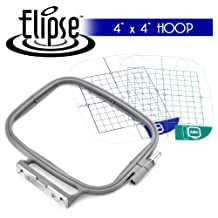 Elipse 4-inch x 4-inch Embroidery Hoop w/ Placement Grids for Brother PE-700, PE700II, PE-750D, PE-770, PE-780D, Innovis 1000, Innovis 1200, Innovis 1250D, PC-6500, PC-8200, PC-8500 And Babylock Ellure, Emore and Esante