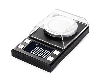 Escala Digital De JoyeríA De Alta PrecisióN 50 X 0,001 G con PestañAs Y Pesas De CalibracióN: Amazon.es: Deportes y aire libre