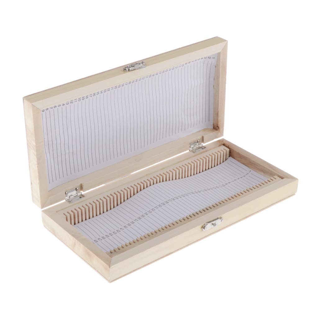 Kids Students Scientific Educational Toy Lab Supplies Bonarty Prepared Microscope Slides Box for 50 Pcs Insects Specimens