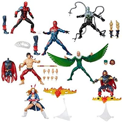 Spider-Man Marvel Legends Wave 11 Set of 6 Figures (Demogoblin BAF): Toys & Games