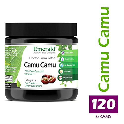 Camu Camu - Helps Detox the Body, Strengthens Immune System, Supports Anti-Aging, Plant Source Vitamin C - Emerald Laboratories (Fruitrients) - 120 Grams Fruit Powder