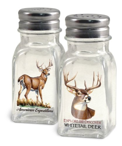 American Expedition Whitetail Deer Salt and Pepper Shakers