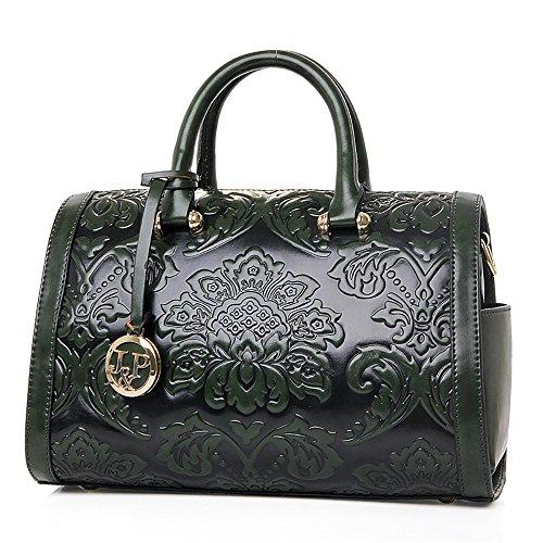QZUnique Women's Fashion Chinese Style Elegant Empaistic Top Handle Cross Body Shoulder Bag Green