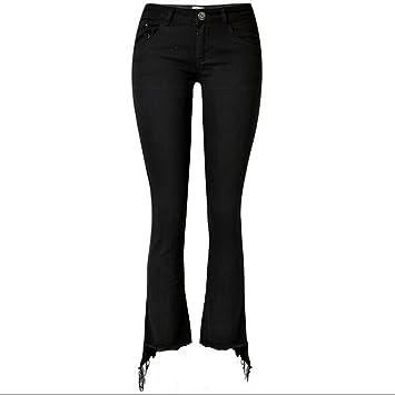 Byjia Jeans pants Pantalones Vaqueros de Las Mujeres Disco ...