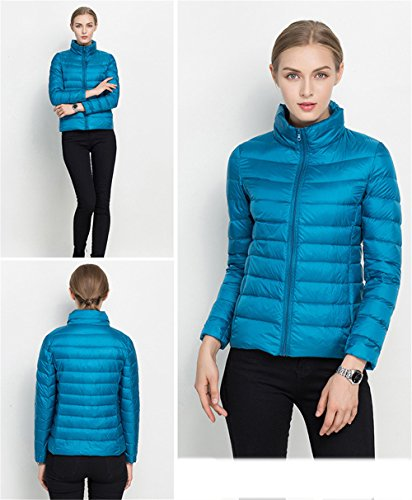 Ultra Quibine Bleu Femme Chaud Lger Canard en d'hiver Doudoune Duvet Manteau 7r65p7x