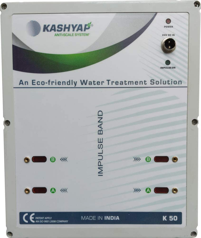 KASHYAP K50 Hard Water Mineral Descaler (4 inch pipes / 220 GPM) with water softener and clean water benefits
