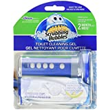 Scrubbing Bubbles Toilet Cleaning Gel with Hydrogen Peroxide - 1 Dispenser & 6 Gel Refills