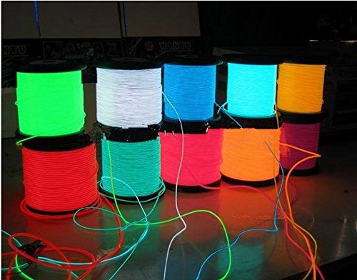 GOWE Flexible Neon Light EL Wire Rope Tube 100M With 8 colors Option ...