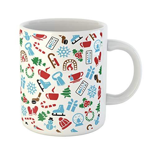 Semtomn Funny Coffee Mug Advent Winter Candy Cap Celebrate Christmas Coffee Cold December 11 Oz Ceramic Coffee Mugs Tea Cup Best Gift Or Souvenir