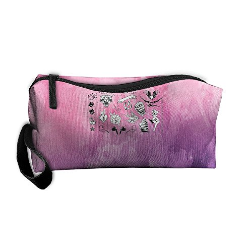 Zhaoqian Hip Hop Hippie Strange Cosmetic Bag For Purse Cosmetic Toiletry Makeup Bag For Women/men Portable Makeup Pouch Space Saving by Zhaoqian