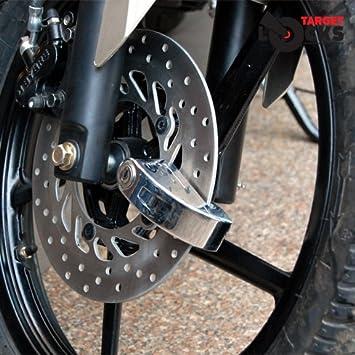 Sistema de bloqueo con alarma para discos de freno de motocicletas, con bolsa de mano