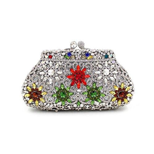 Cristal Sac Diamant métal FYios à Extravagant d'eau Mesdames Main Tenant Sac Golden dîner Un W8wvqT