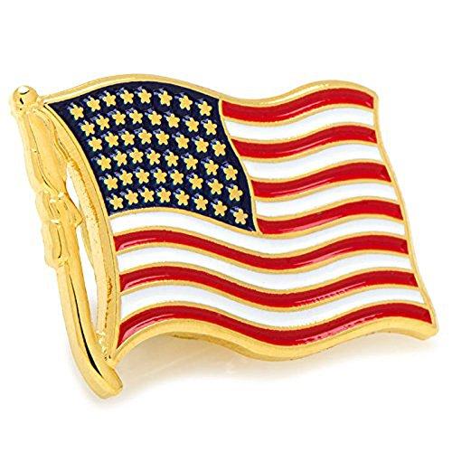 Premium United States Waving American Flag Stars and Stripes Lapel Pin