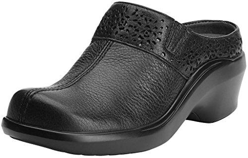 Ariat Women's Santa Cruz Leather Mules Black 9 B (M) US - Ariat Leather Mules