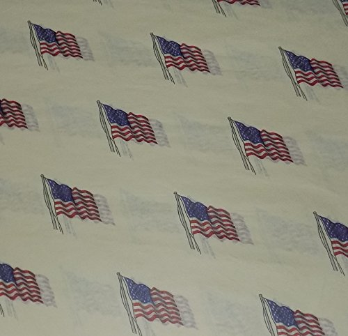 (Vintage USA Patriotic American Flag Print Tissue Paper for Gift Bags, Gift Wrapping, and Crafts - 24 Sheets (20 inches by 30 inches))