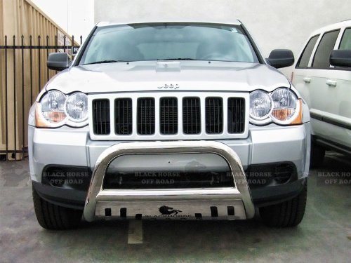 "2008 2009 2010 Jeep Grand Cherokee 2.5"" Stainless Steel Bull Bar w/ Skid Plate"