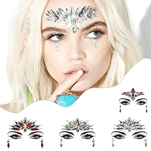 SeTing Face Gems Crystals Rhinestone Adhesive Gems Face Glitter for Festival Party Eyes Face Tattoo Stickers LifeShop #12