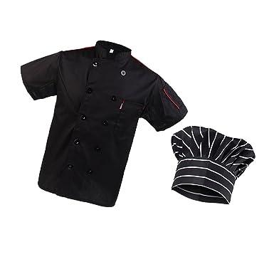 1x Abrigo Chaqueta con 1x Gorro de Cocinero Camarero Chef ...