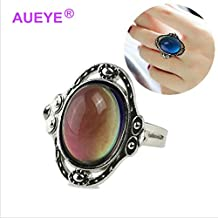 Mood Ring Changing Color Fashion Magic Adjustable Temperature Control